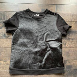Lord And Taylor Leather Front Tee